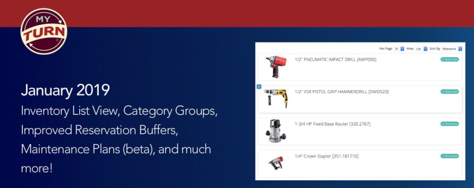 Inventory List View, Category Groups, Improved Reservation Buffers, Maintenance Plans (beta), and much more!