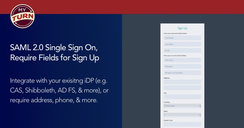 New SAML 2 0 Single Sign On, User Registration Options