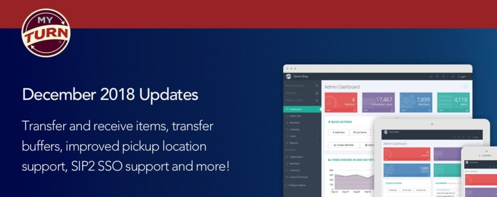 Transfer and receive items, transfer buffers, improved pickup location support, SIP2 SSO support and more!