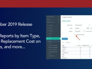 Usage Reports by Item Type, Display Replacement Cost on Receipts, and more…