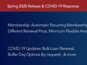 April 2020: Recurring Memberships and COVID-19 Response