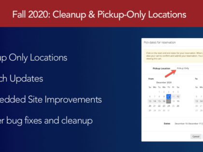 Fall 2020 Cleanup & Pickup-Only Locations