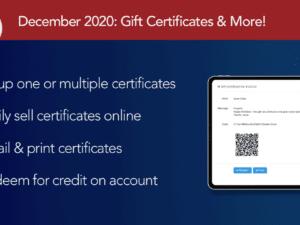December 2020: Gift Certificates!