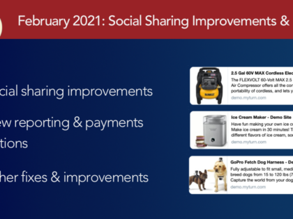 February 2021: Social Sharing Improvements, List Items Export, and more