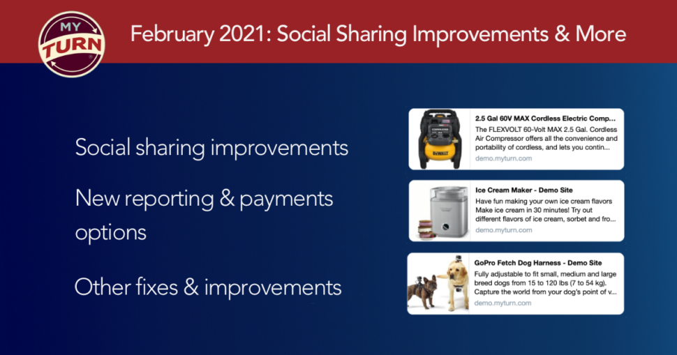 February 2021: Social Sharing Improvements & More
