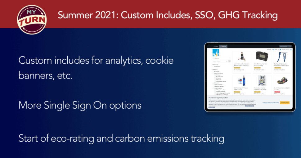 Summer 2021: Custom Includes, SSO, GHG Tracking